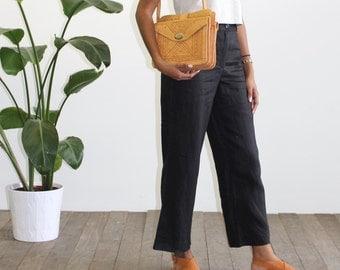 RESERVED Vintage Leather-Detailed Handbag