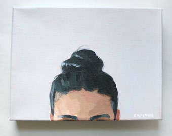 """Oil on Canvas Painting - """"Top Knot 43"""" - 9x12"""""""