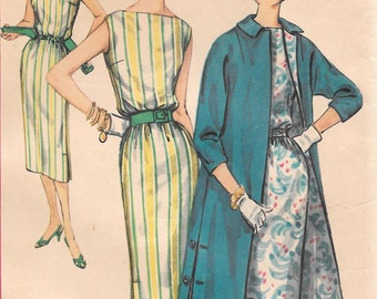 Bust 34-1960's Misses' Dress and Coat Simplicity 1911 Size 14