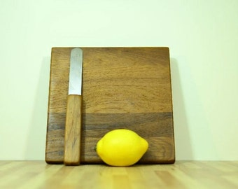 Vintage Dansk Cutting Board with Knife