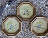 Vintage Homco Inc 1982 Bird Pictures USA Made Set Of 3