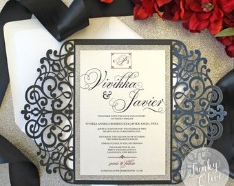 laser cut invitation | etsy, Wedding invitations