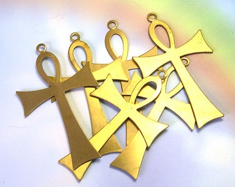 Big Large Supply Brass Cross, big brass crosses, Large Gothic Brass  Cross, brass cross stampings, cross jewelry supply, jewelry supplies