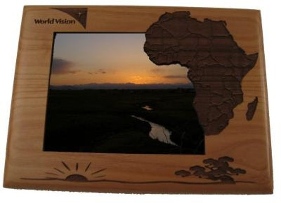 personalized africa photo frame engraved wood picture frame. Black Bedroom Furniture Sets. Home Design Ideas