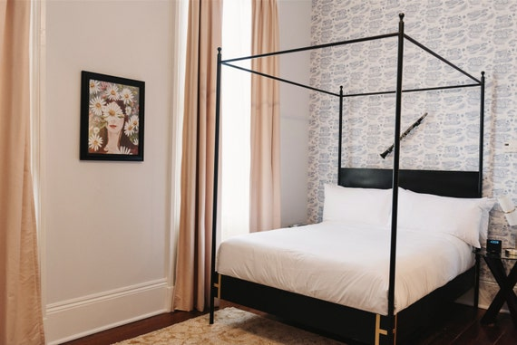 Iron Four Poster Bed josephine bed four poster king or queen black iron canopy bed