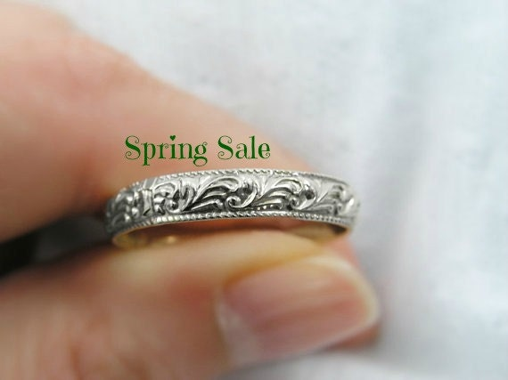 Moroccan gold wedding ring floral design ring or wedding band. romantic gift,  anniversary gift (gr-9154-890).