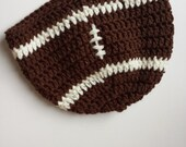 Football Hat, Baby Infant Hat, Beanie, 6 - 12 Months, Ready to Ship, Crochet