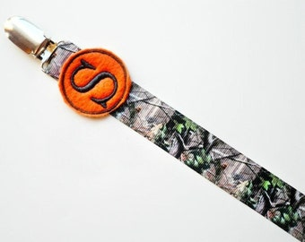 Hunters Camo Personalized Pacifier Clip Monogram Pacifier Clip Camo Baby Boy Twins Baby Gift Soothie Nuk Mam Avent Monogram Baby Gift