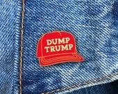 DUMP TRUMP Pin, Donald Trump Pin, Enamel Pin, President, Soft Enamel Pin, Jewelry, Art, Gift (PIN54)