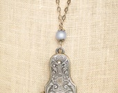 Antique cigarette cigar cutter, Victorian pendant necklace, antique fob, upcycled jewelry