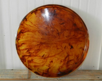 FAUX TORTOISE SHELL Lucite Tray