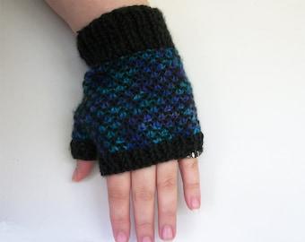 Knitting Pattern: Dragon Scale Gloves Knit Fingerless Gloves Pattern
