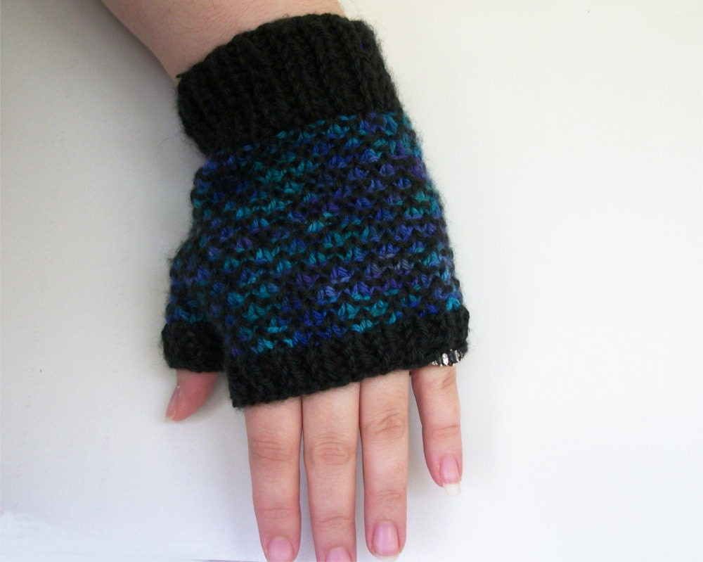 Fingerless gloves easy knitting pattern - This Is A Digital File