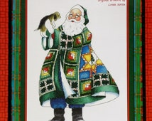 Counted Cross Stitch Pattern QUILTED SANTA CLAUS By Linda Kotila By Cross My Heart
