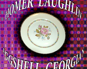 "Homer Laughlin Eggshell Georgian  10 "" Plate"