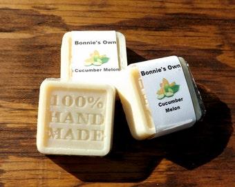 Goats Milk Soap,Cucumber Melon, 2 oz bar, Cold Process Soap, Summer Soap, Melon Soap, Cucumber Soap, Spring Soap, Fresh Scent, Melon Cucumbe
