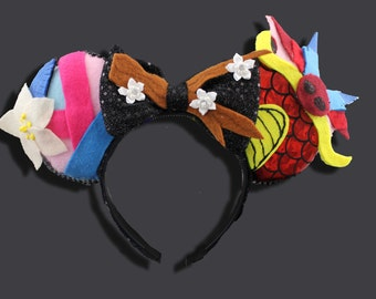 Asian Princess Mouse Ears w/ Bow