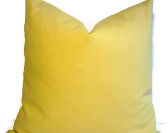 Yellow Pillow Cover Plain Yellow Pillow Solid Yellow Pillow