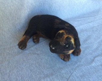 Needle Felted German Shepherd Puppy