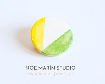 Scandinavian jewelry ceramic brooch, Minimalist ceramic brooch, Ceramics  pottery, Ceramics & pottery, Geometric ceramic jewelry, Noemarin
