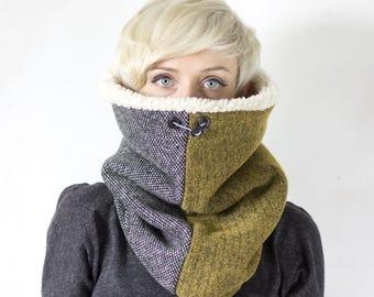 Warm winter scarf, womens mens accessories, cowl, womens mens scarf