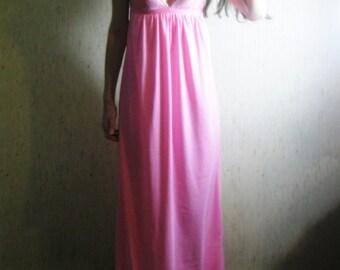 50% OFF SALE! petals - beautiful hot pink bohemian chic hippie floral supima cotton lace maxi dress xs