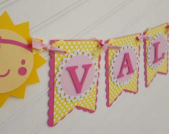 You are my Sunshine banner, sun theme, sunshine birthday