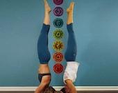 7 Chakras Wall Decals - Yoga Studio Decor, Meditation Decal, Gift Idea for Yogis (1273-17)