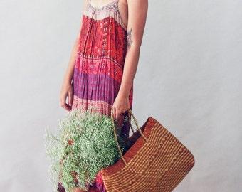 Boho ethnic and paisley print dress
