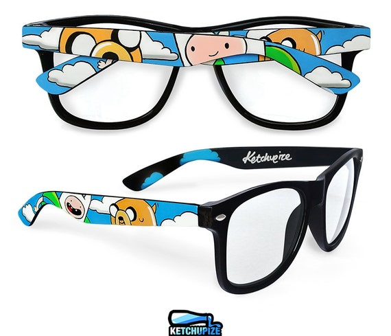 adventure time custom wayfarer glasses finn and jake personalized unique gift geek accessories for men women