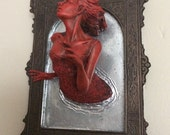 Ghost in the Mirror Wall Plaque, Bloody Mary Version