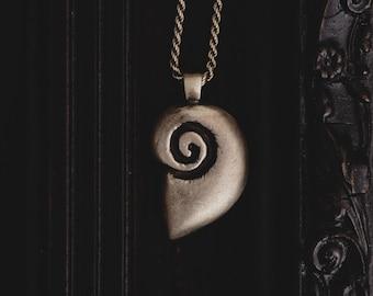 Sterling Silver Ammonite Necklace-Ammonite Fossil Pendant-Sterling Silver Shell Necklace-Shell Jewellery