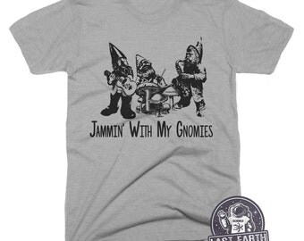 Garden Gnomes Shirt Gnome Rock Band Shirt Funny Gnomes Tshirt Music Tees Funny Vintage Tees Rock Band Gifts For Gardeners Lawn Art Gnome