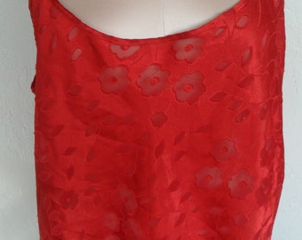 Vintage Camisole Sheer Burnout Cami By Cinema Etoile Size Large