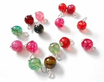 Multi -Color Tourmaline Dangle Beads