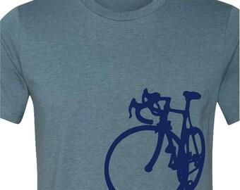 Bicycle T-shirt-La Bicicletta-Road Bike tshirt-6 colors available-Cycling tshirt,bike tshirt,Bicycle tee,bike gift, cycling gift, men's gift