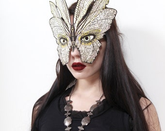 Butterfly Mask by Carousel Ink - Victorian Paper MASK - Halloween Mask - party masj - carnival - mardi gras
