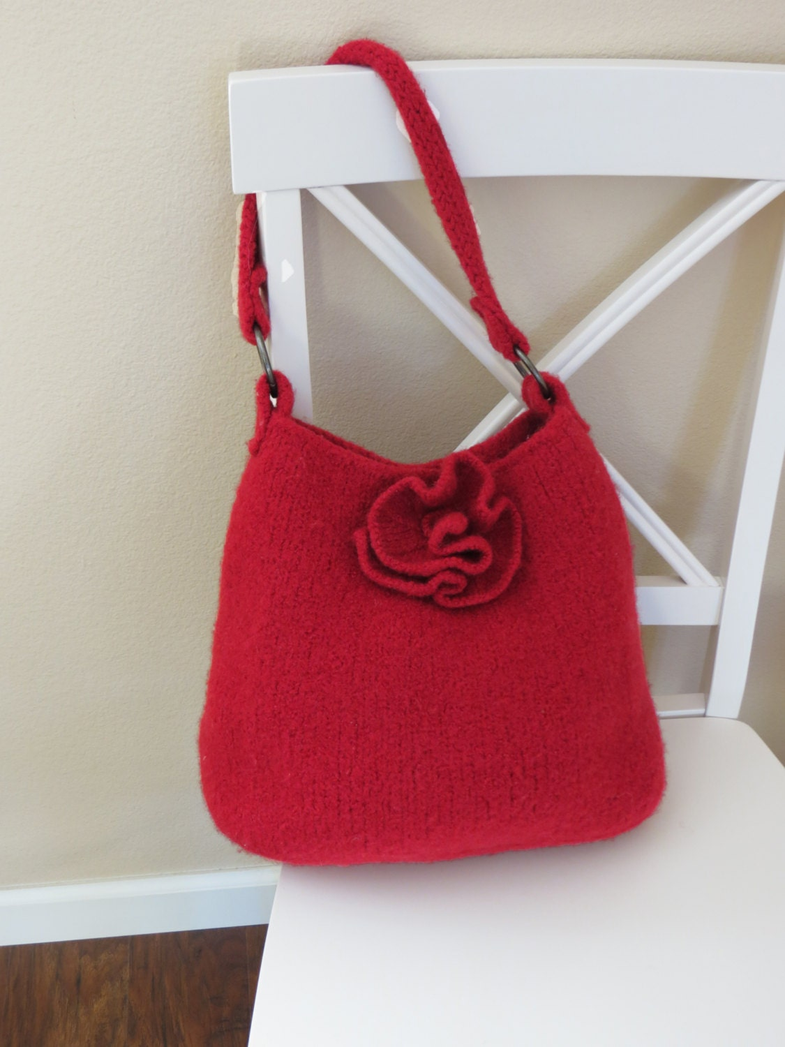 Knitted Tote Bag Pattern : Knit Bag Pattern Felted Purse Pattern Knit Purse Knitting