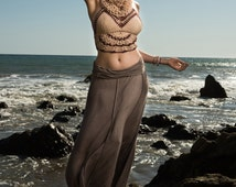 Crochet Hooded Festival Top - Desert Dweller. Rose. Hippie. Halter. Circle Scarf. Hooping. Tribal. Hooded Top. Gypsy. Burning Man. Hooping