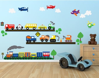 20% OFF SALE Cars FABRIC Wall Decal,  Reusable Eco-Friendly Non-Toxic Decals, 651