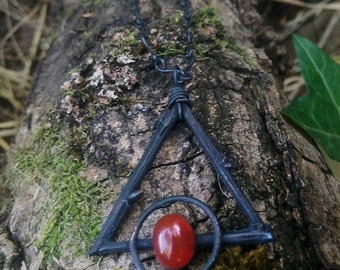 Immortized Oak, Carnelian and Copper Alchemy Necklace