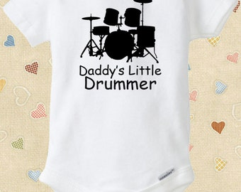 Drummer Baby Onesie for Musicians - Heavy Metal, Classic Rock, Jazz, and More Newborns Infants to 18-24 Months