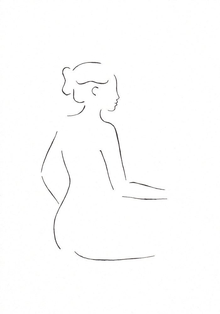 Minimalist Line Art : Original minimalist line art drawing pen and ink graphics