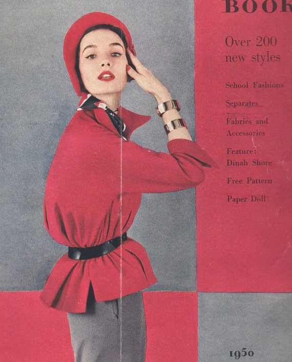 1950s Simplicity Pattern Book detail