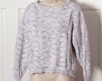 80s 90 Cute Vintage Women's Knit Sweater - textured - Across America