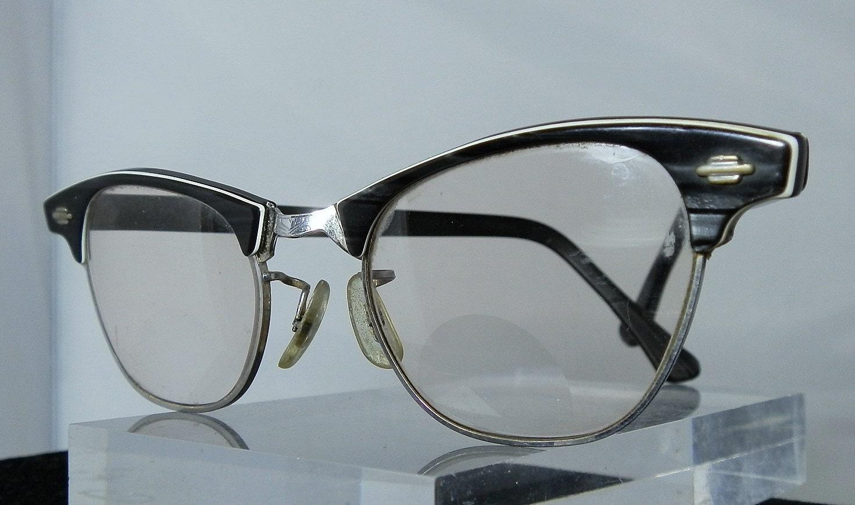 Vintage art craft retro ladies eyeglasses white gold filled for Art craft eyeglasses vintage