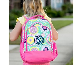 Personalized Backpack - Large Monogrammed Girl's Backpack- Durable Monogrammed Backpack - Backpack Personalized FREE