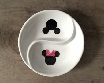 Ring Dish | Mickey & Minnie Mouse | Wedding | Ring Holder | Engagement Gift | Jewelry Dish