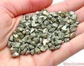Sparkley PYRITE XS Nugget Rough Stone 2 oz Parcel (5-10 mm) Healing Crystal and Stone Jewelry & Crafts Prosperity Success #PS03
