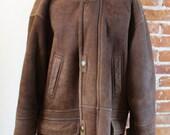 Vintage Hammer Shearling Sheepskin Jacket Size 42